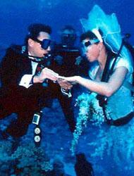 Imagem Casamento até debaixo d'água